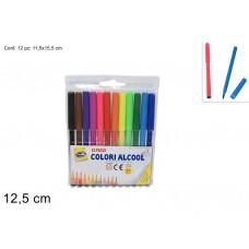 Confezione 12 colori a spirito
