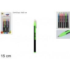 Confezione penne fluo colorate