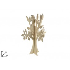 Albero legno tridimensionale 80cm