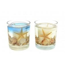 Candela in bicchiere