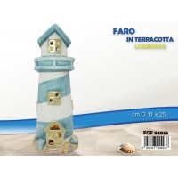 Faro In Terracotta Luminoso