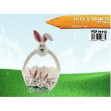 Cesto in ceramica coniglio