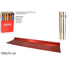 Rotolo carta regalo metallizzata colori assortiti cm 70x150