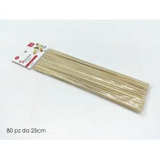 Set 80pz spiedini bamboo 25cm