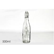 Bottiglia tonda 500ml c/tappo ermetico