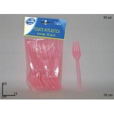 Confezione Forchette Rosa 30pz