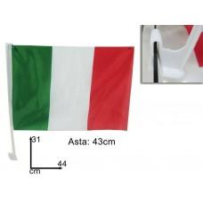 Bandiera italia con gancio per finestrino auto