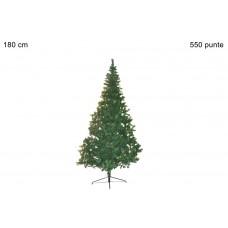 albero di natale 180 cm  550 punte base metallo
