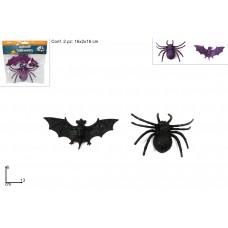Pipistrello + ragno 13cm