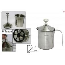 bric cappuccino acciaio grande 6 tazze