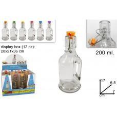 bottiglia vetro chiusura ermetica 200 ml