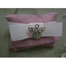 bustina in tessuto rosa
