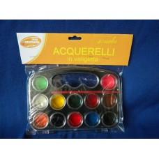 Acquerelli con pennelli