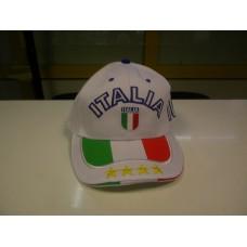 cappello italia bianco