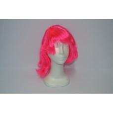 Parrucca Liscia Rosa
