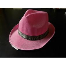cappello panama rosa