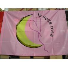 bandiera 90x140 cm. con logo notte rosa
